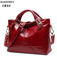 Han 100% Genuine leather Women Handbags 2017 New Cross-Section Portable Shoulder Motorcycle Bag Fashion Vintage Messenger(China)