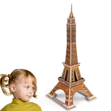 New 3D Mini Eiffel Tower DIY Puzzle Model Girl Children Adult Toys Family Architecture Play Game Gift Toys Construction Puzzles