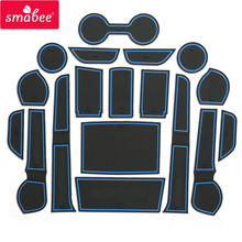 smabee Gate slot pad For Toyota Hilux SR5 4x4 Hilux REVO Hi- Interior Door Pad/Cup Non-slip mats red blue white(China)