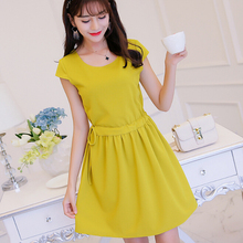 Buy Korean Summer dress women clothing bodycon dress show thin short sleeve patchwork lace-up dress fashion girl Vestidos for $9.69 in AliExpress store