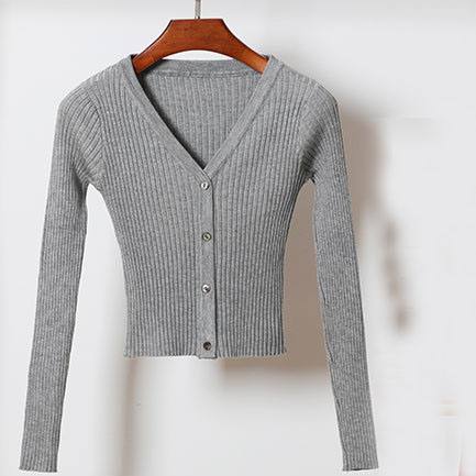 Fall Autumn Winter Sweater 2018 Women Long Sleeve V Neck Basic