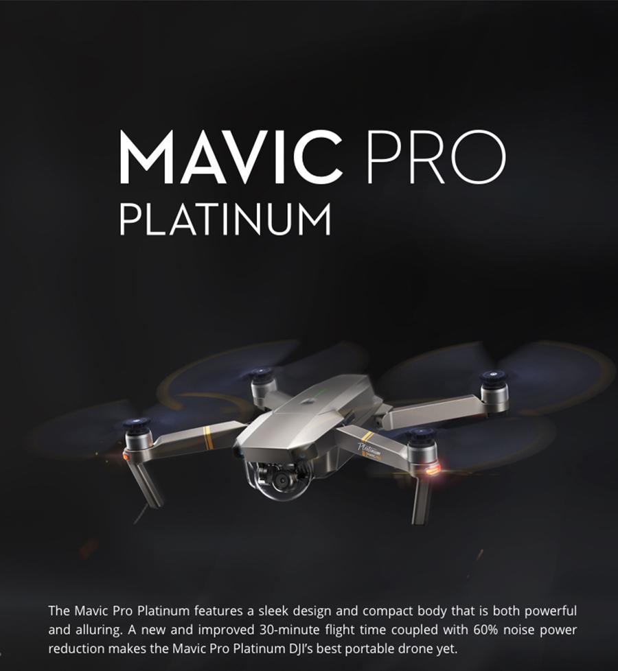 DJI Mavic Pro Platinum Fly More Combo & dji mavic pro quadcopter 12 mil. 4K HD Video Recording drone 7 KM Remote Control 30 mins_01
