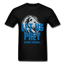 Customized Boys Novelty Tee Shirts Let Us Prey Detroit Footballs Short Sleeve T-Shirt Boy Pre-cotton Custom Made T Shirts