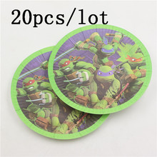 Ninja Turtle Party Family Paper Plate Kids Favors Birthday Paper Saucers Party Dishes Baby Shower Party Decoration for 20 people