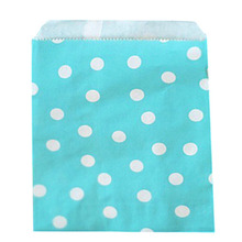 50pcs/Lot Polka Dot Paper Bag Christmas Wedding Decoration Table Party Decoration Wedding Favors And Gifts-blue