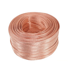 1PCS YT1536 Copper Braided Strap 4mm2 Copper Wire Copper Strip Length 1 Meter Conductive Band Free Shipping(China)