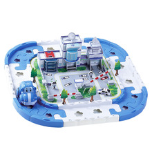 Kids Toy Vehicles Electric Rail Car Racing Car Puzzle Electric Track Blocks Track Battery Powered DIY Toy Set for Kids Education(China)