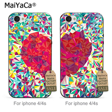 MaiYaCa Transparent TPU Cell Phone case Best Friends Heart Pair For iPhone 4 4s Case(China)