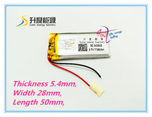 best battery brand 3.7V,770mAH,[542850] PLIB; polymer lithium ion / Li-ion battery for dvr,GPS,mp3,mp4,cell phone, tablet batte(China)