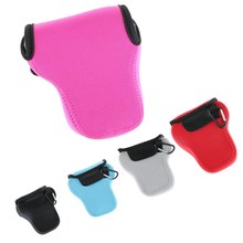 Soft Camera Protect Bag Inner Case For Canon EOS M10 15-45mm Lens M M2 Body Pouch Color Black/Blue/Gray/Pink/Red