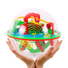 3D Magic Maze Ball Big Size 100 Levels Intellect Ball Rolling Ball Puzzle Game Brain Teaser Learning Educational Toys Orbit Game