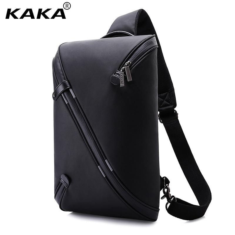 KAKA Brand Design Unisex Men Fashion Messenger Bags Expandable Chest Packs Waterproof Shoulder Bags Korean Women Bags for Ipad <br>