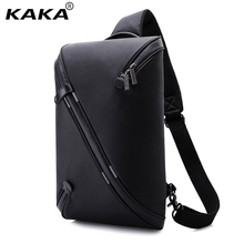 KAKA Brand Design Unisex Men Fashion Messenger Bags Expandable Chest Packs Waterproof Shoulder Bags Korean Women Bags for Ipad(China)