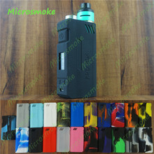 19 colors IJOY RDTA BOX 200W box mod silicone case cover/sleeve/wrap/skin/sticker rubber box mod decal for free shipping