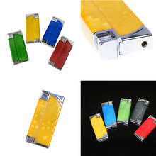 Funny Plastic Windproof Reuse Lighter Electric Shock Toy 7*3*1.3cm Multifunction Novelty Joke Gifts Prank Toys Cheap(China)