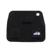 Replacement 3 Button Rubber Remote Pad for Toyota Avensis Corolla Lexus Rav4 3 Button Remote Key Fob(China)