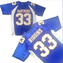 Football Jersey Friday Night Lights Tim Riggins 33 Dillon High School Football Jersey Stitched Sewn-Blue Cheap Short Sleevele