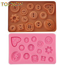 DIY Button shaped Christmas wedding decoration silicone mold fondant sugar cooking tools bow mould DIY cake decoration C3045