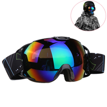 Unisex Double Lens UV400 Big Ski Mask Glasses Skiing Goggles Anti-fog Ski Snowboard Winter Ice Snow Sports Eyewear with Case