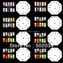 Beautiful Design Pro Airbrush Nail Art Paint Stencil Kit Design Set MJ-006 Free Shipping