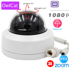 "Buy OwlCat HD 1080P 2.5"" Mini PTZ Dome IP Camera 3X OpticaL Zoom Motorized CCTV Security Network PTZ Camera Indoor/Outdoor IR ONVIF for $67.99 in AliExpress store"