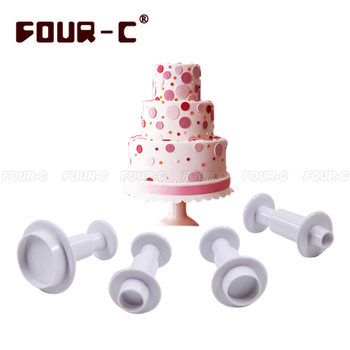 Round plastic fondant plunger cutters christmas fondant cake decorating tools cake mold cookie cutter cupcake/cake decoration