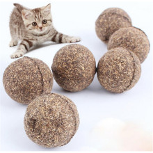 2PCs/Lot Cat Toy Natural Catnip Wood Ball Menthol Flavor Cat Treats Edible Cats-go-crazy Treats Tease Pet Accessories Toys(China)