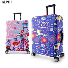 HMUNII Brand Fashion Travel Suitcase Covers Luggage Protector Cover Spandex Elastic Protectors for 18-32 inch Trolley Case
