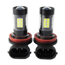 2PCS*H11 43W 3014 32 SMD + 11 SMD 2835 900lm 43led decoding fog light bulbs with led lens H11 DRL High Power  Fog Lamp 6000k 12V