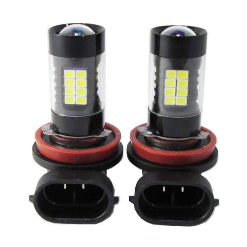2PCS*H11 43W 3014 32 SMD + 11 SMD 2835 900lm 43led decoding fog light bulbs with led lens H11 DRL High Power  Fog Lamp 6000k 12V<br><br>Aliexpress