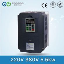 VFD Inverters AC drive 5.5KW motor Input Voltage 220V Output Voltage 380V VARIABLE FREQUENCY DRIVE FREE SHIPPING(China)