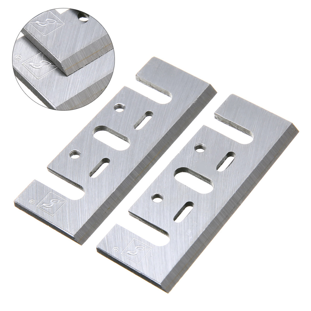2pcs Electric Planer Blades Power Tool Part Replacement Fits for Power Tools Accessories