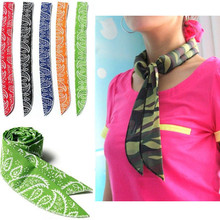 5Colors Non-toxic Neck Arm Cooler Scarf Body Ice Cooling Wrap Tie Headband Towel Bandana(China)