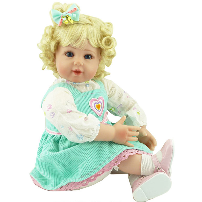 20inch Girl Baby Reborn Doll Golden Hairstyle Silicone Reborn Dolls Toys Lifelike Newborn Babies Toys brinquedos para meninas<br><br>Aliexpress