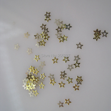 MS201-2 100pcs Gold Cute Small Star Metal Sticker Nail Art Metal Sticker Nail Art Decoration Non-adhesive Sticker