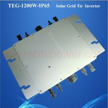 Solar mppt tracking 1200w on grid tie solar panel micro inverter 48v IP65 waterproof TEG-1200W-IP65(China)