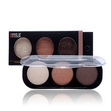 Whosales Eye Shadow Natural Cosmetic Mineral With Brush Nude Makeup Eyeshadow Palette Naked Make Up Set Wholesale(China)