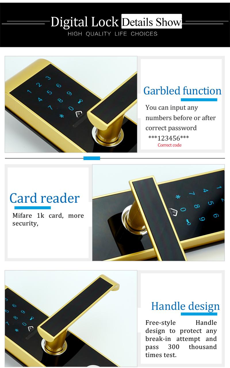 digital combination lock door