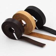(12MM width about 2mm thick) genuine Leather cord for Bags Fitting Jewelry accessories
