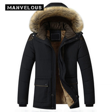Manvelous 5 XL Down Jacket Mens Fashion Casual Slim Zipper Solid Pocket Polyester Mid-Length Royal Blue Mens Winter Parkas Coats