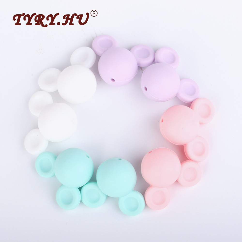 10Pcs Chic Cute Loose Silicone Chewing Beads For Baby Teething DIY Bbay Jewelry