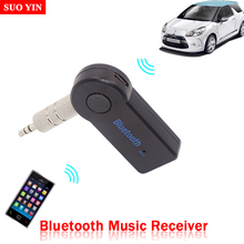 Hot sales Bluetooth 3.5mm Streaming Home Car A2DP Wireless AUX Audio Music Receiver Adapter for Home Car Speaker Free shipping