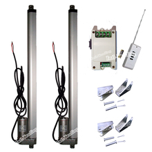 "Set of Wireless Control System-2PCS 450mm/18"" Stroke 12V DC 330lbs Linear Actuators &Wireless Controller &Brackets for TV Lifts"