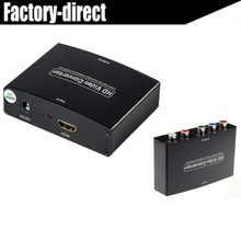HDMI to Component YPbPr+R/L AV CONVERTER HDMI INPUT AND COMPONENT OUTPUT WITH POWER supply(China)