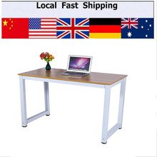 Modern Wooden & Metal Computer PC Home Office Desk Table Functional Study Table New
