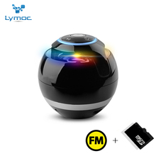 Lymoc Portable Bluetooth Speaker LED MINI Bluetooth Wireless Stereo Music Speaker Bass AUX TF FM Heavy Sound Box Loudspeakers(China)