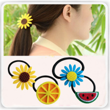 Flower Hair Accessories for Woman and Girls Elastic Hair Band lemon / watermelon style Head dress(China)