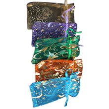 50 pcs Organza Jewelry Candy Pendent Random Color Mini Gift Pouch Bags Wedding J2Y