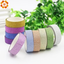 Wholesale!5PCS/Lot 4M Glitter Matte Tapes Scrapbooking Paper Tape For DIY Crafts Decoration/Kids Gift Wrapping