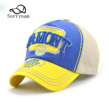 Spring Cotton Baseball Caps Embroidery Snapback Hat Summer Cap Hip Hop Fitted Hats For Kids Sun Hat Adjuagable(China)